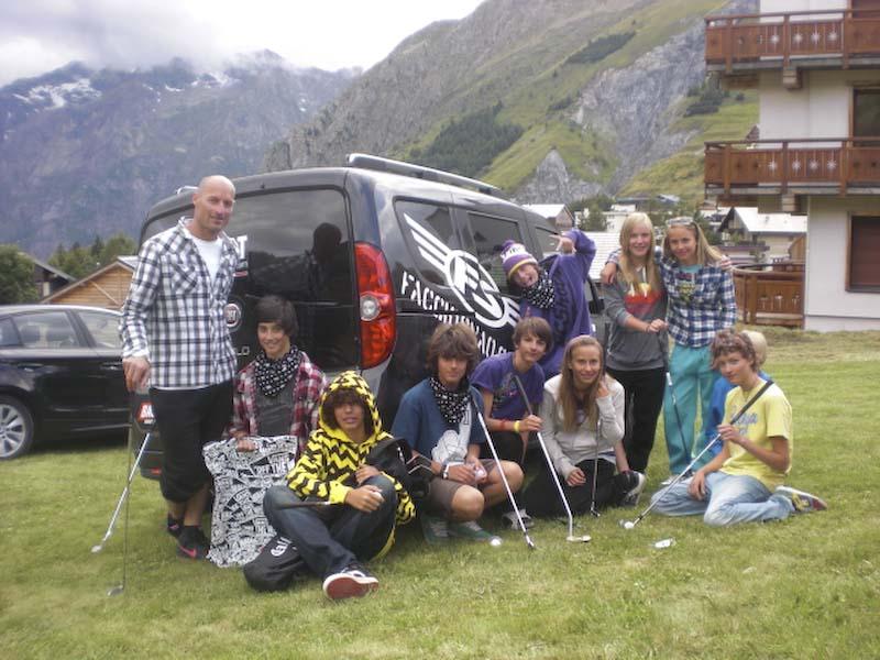 Facciosnao Camp Les 2 Alpes 2011 mattia bonaguro scuola sci nord ovest