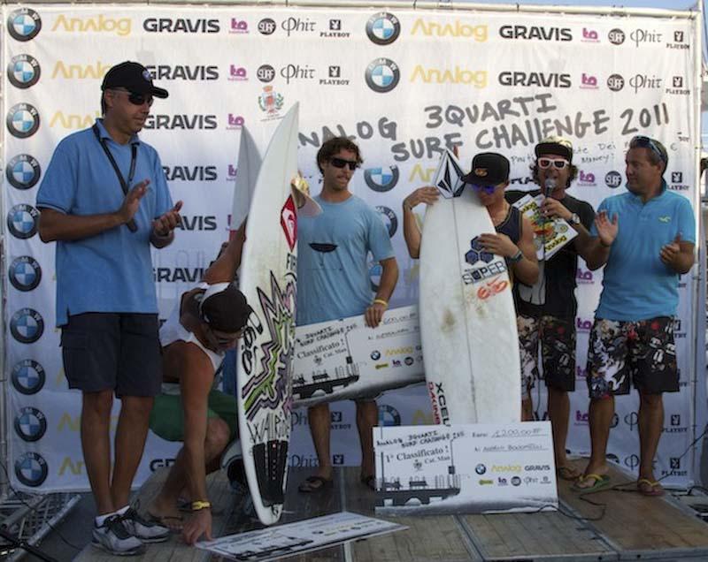 Angelo Bonomelli e Roberto d'Amico tre quarti di surf