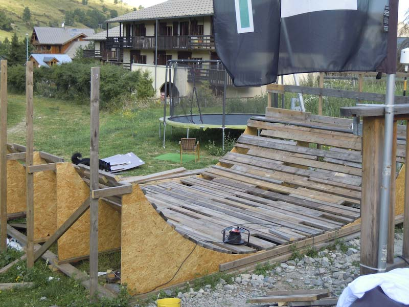 la rampa di Facciosnao Snowboard Camp a Les 2 Alpes