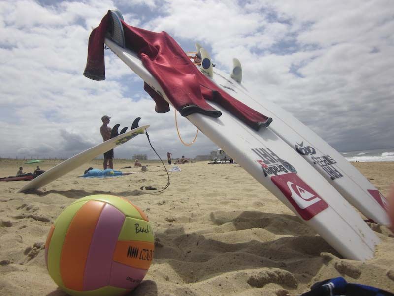 Facciosnao Surf House tavole da surf sulla spiaggia di Hossegor